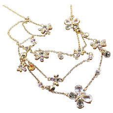 Swarovski Necklace - Butterflies Bees Dragonflies