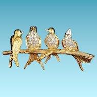 Joan Rivers Birds on a Branch Brooch