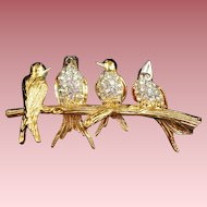 Joan Rivers Birds on a Branch Brooch