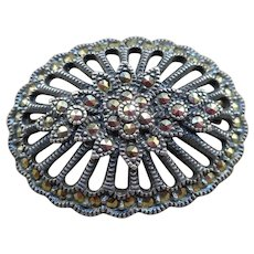 Judith Jack Sterling Marcasite Pin