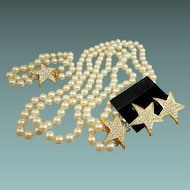 Joan Rivers Pearl Parure with Stars