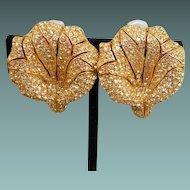 Ciner Flower Earrings