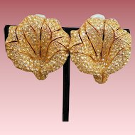 Ciner Flower Earrings