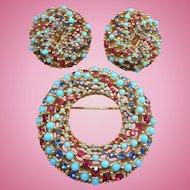 Ciner Pin Earrings Set