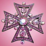 Givenchy Maltese Cross Brooch