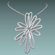 Swarovski Flower Necklace