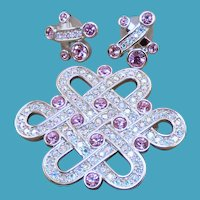 Swarovski Celtic Brooch/Earrings