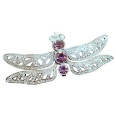 Huge Dior Dragonfly Brooch
