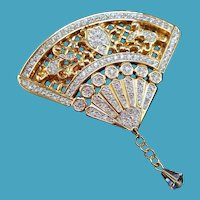 Swarovski Fan Brooch