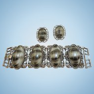 Vintage Bracelet Earrings Set