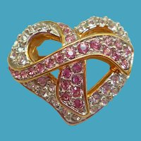 Swarovski Heart Pin