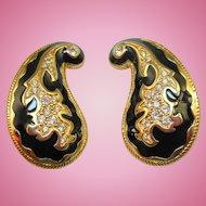 Swarovski Paisley Earrings