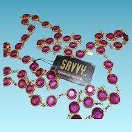 Swarovski Savvy Raspberry Pink Necklace - MWT