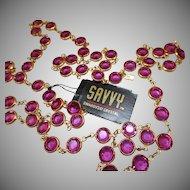 Swarovski Savvy Raspberry Pink Necklace - MWT