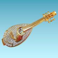 Swarovski Mandolin Brooch