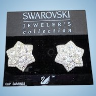 Swarovski Star Earrings - MOC