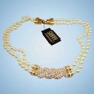 Swarovski Savvy Pearl Necklace
