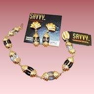 Swarovski Savvy Bracelet Earrings Set - MWT