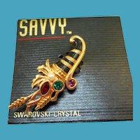 Swarovski Savvy Cornucopia Pin - MOC