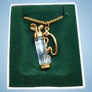 Swarovski Golf Bag Necklace
