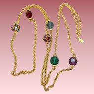 Swarovski Crystal Jewel Tones Necklace