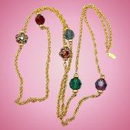 Swarovski Crystal Jewel Tones Necklace