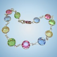 NOS Swarovski Pastel Bracelet
