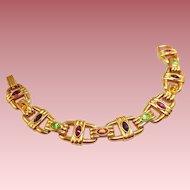 Vintage Swarovski Bracelet with Multi Color Stones