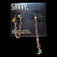 NOS Swarovski Savvy Convertible Earrings - MOC