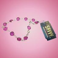 NOS Swarovski Savvy Pink Bracelet - MWt