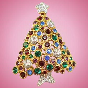 Vintage Swarovski Christmas Tree Pin