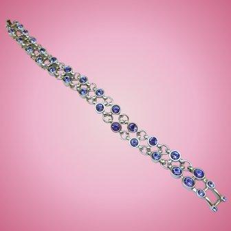 Swarovski Purple Rhinestone Bracelet