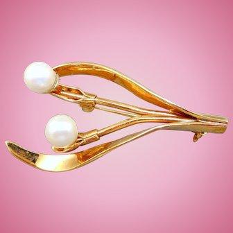Swarovski Faux Pearl Pin