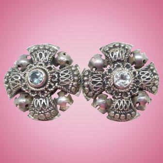 Vintage 935 Silver Clip Earrings