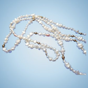 Long Freshwater Pearl Necklace