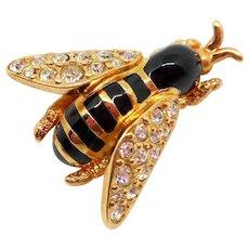 Swarovski Bee or Wasp Pin