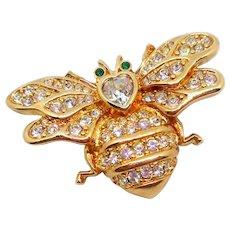 Vintage Swarovski Bee Pin