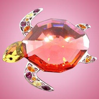 Swarovski Paradise Corporito Turtle Pin