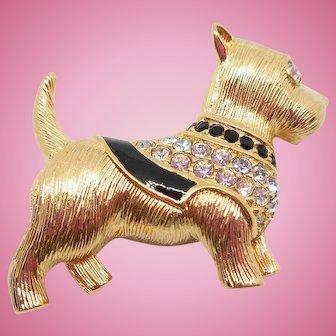 Swarovski Scottie Dog Pin