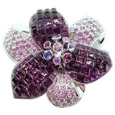 Swarovski Purple Flower Pin
