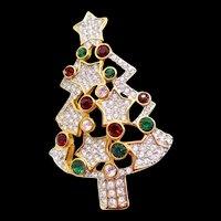 Authentic Swarovski Christmas Tree Pin