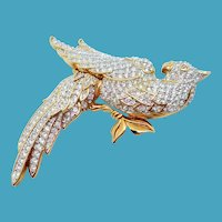 Swarovski Bird of Paradise Pin