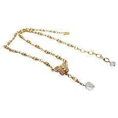 Swarovski Gold Crystal Butterfly Necklace