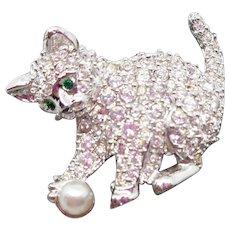 Swarovski Cat or Kitten Pin