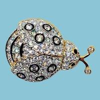 Vintage Swarovski Ladybug Pin