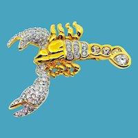 RARE Swarovski Scorpion Pin