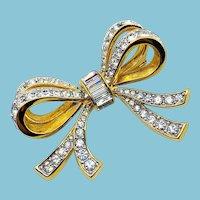 Swarovski Bow Pin - Vintage
