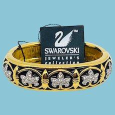 NOS Swarovski Black Fleur de Lis Bracelet