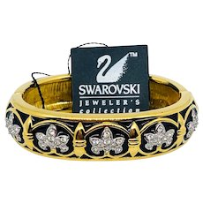 NOS Swarovski Fleur de Lis Bracelet