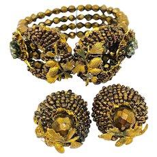 Jonné Beaded Wrap Bracelet Earrings Set